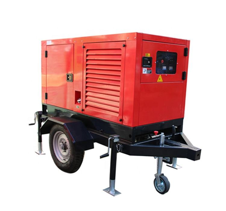 400a 500amp DC welder generator diesel engine driven welding machine plant with Four wheel mobile trailer
