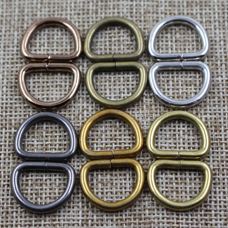 Manufacturer wholesale metal bag accessories d ring buckle for leather