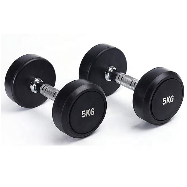 Free Weight Dumbbell Set,Black Fixed Rubber Dumbbell Set,Weight Lifting Adjustable Dumbbell