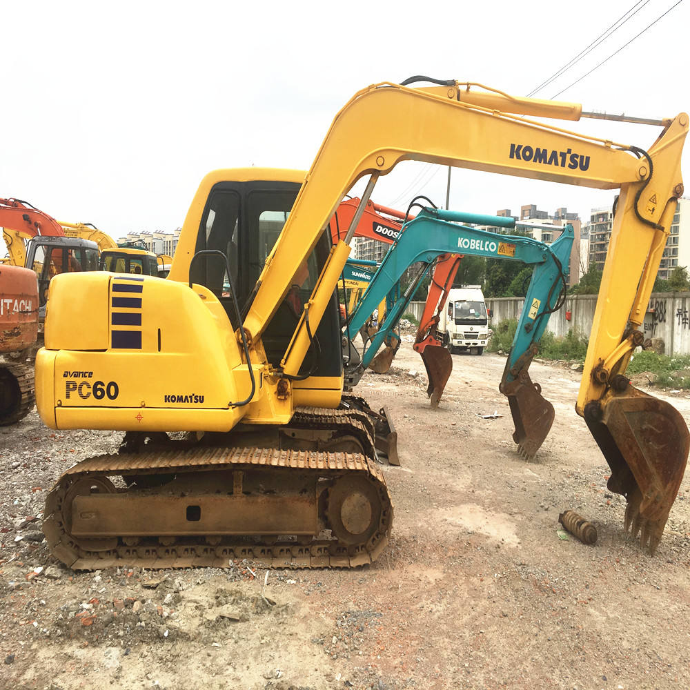 Used original construction site equipment pc60 8 excavator