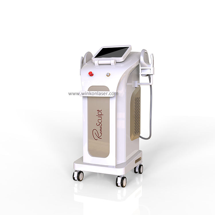 Winkonlaser Renasculpt Lazy Artifact Sculpt Hifem Muscle Sculpting non-invasive muscle stimulator machine for Beauty salon