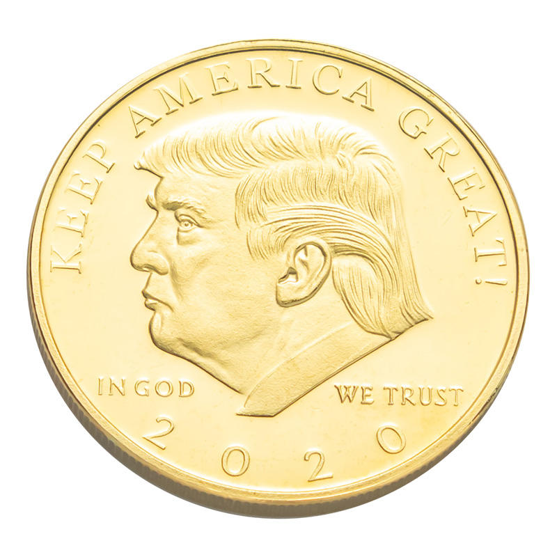 2020 wholesale custom logo engraved design metal challenge Professional ram darbar trump collectible gold coin