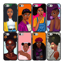 Cartoon painting gentle girls Matte Soft TPU Mobile Phone Case Cover For iPhone SE2