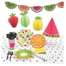 Kids Birthday Fruits Pineapple Theme Summer Luau Party Supplies With Party Favors