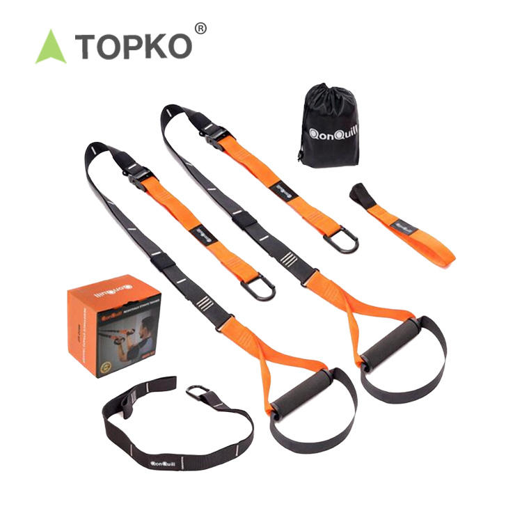 TOPKO wholesale bodybuilding gym fitness workout trainer durable P4 Suspension Trainer