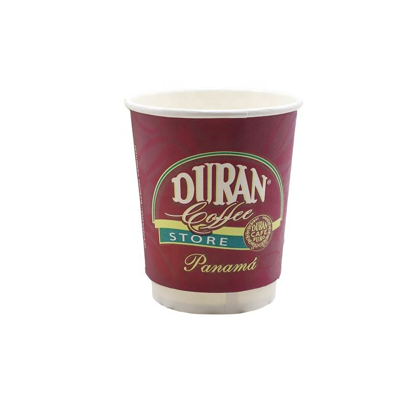 Double Wall [ Coffee Paper Cups ] Coffee Paper Cups Eco-friendly Coffee Insulated 8oz Double Walled Cafe Paper Cups With Lids