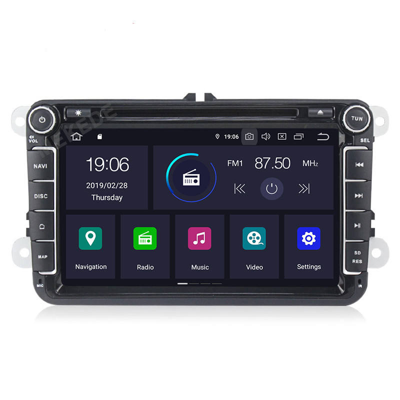 MEKEDE PX5 Audio Mobil Android 9.0, Audio Mobil Octa Core IPS DSP untuk Skoda Octavia/Fabia/Fast/Yeti/Superb/VW/Seat 4 + 64GB Radio Video GPS WIFI