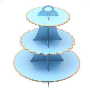3-Tier Cardboard Cupcake Stand Paper Cake Stand For Birthday Wedding Special Event Decoration Baby Shower Party Ornament