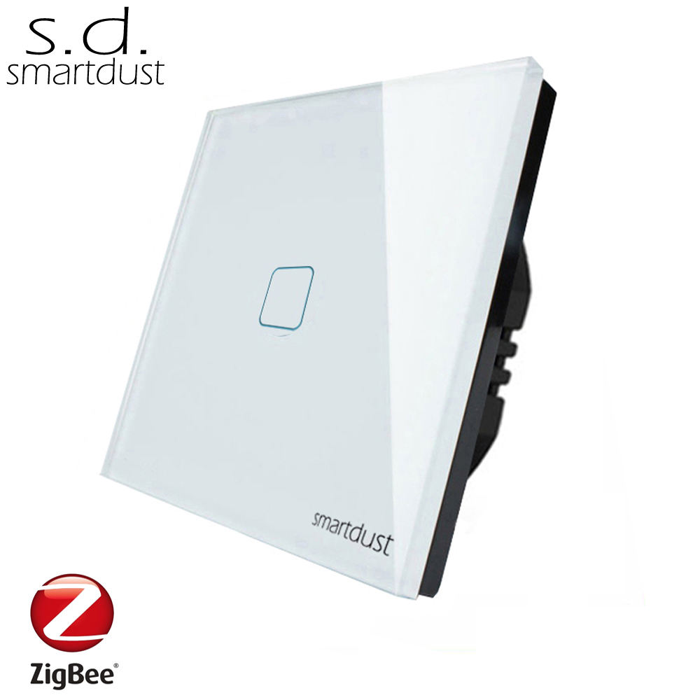 Smartdust 1 Gang 1 Way Touch RF Remote Wall Switch Zigbee Home Automation