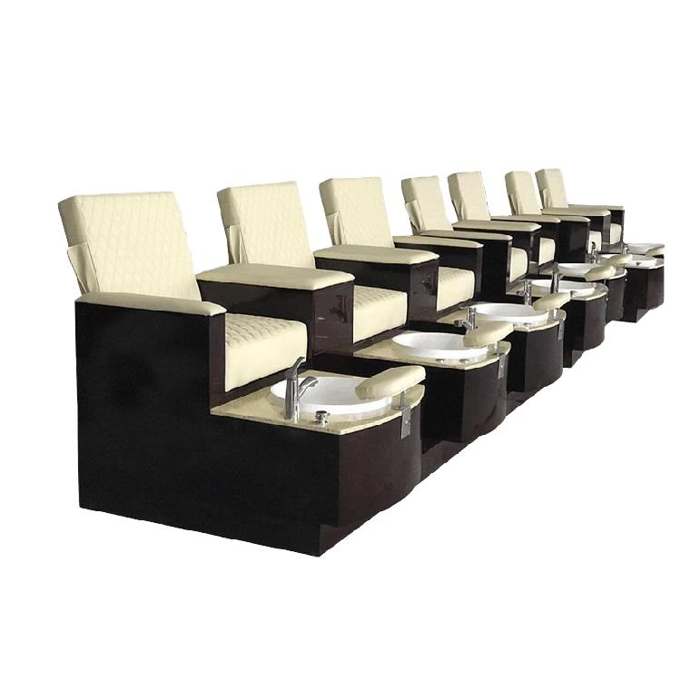 Bomacy Luxury Factory Custom Modern Design Pedicure Station Nail Salon Furniture Pedicure Bench
