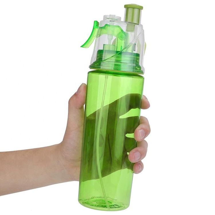 Leak-Proof Drinking Cup 600ML Sport Cycling Mist Spray Water Bottles Gym Beach Bottle