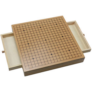 Wood Go Game Set with Storage 12 In Tournament Board  Large