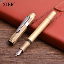 Newest Vintage Style Brass Bronze Fountain Pen High Grade Customized Logo Fountain Pens Luxury Metal