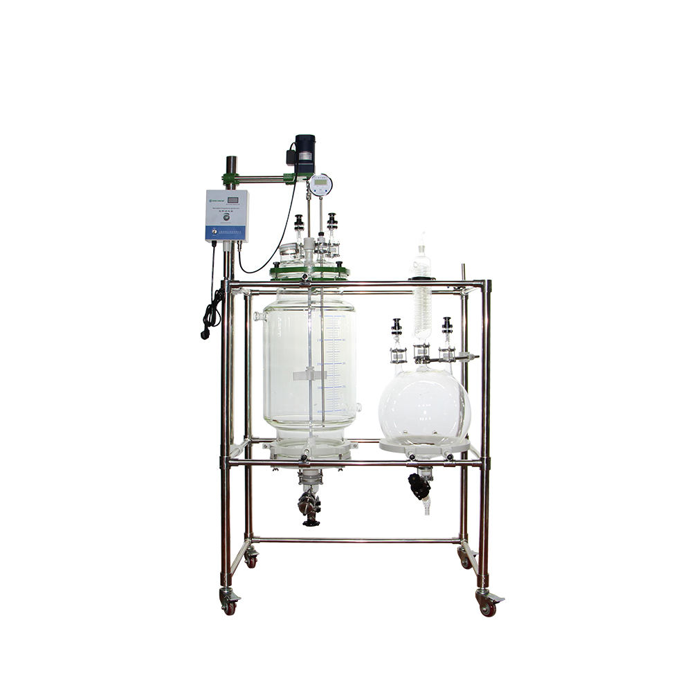 Top Grade 100L Jacketed Glass Reactor Filtration Reactor Nutsche Filter for Crystallization