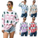 2020 Wholesale Long Sleeve Christmas Knitted Pullover Ugly Christmas Loose women Christmas Sweater