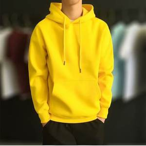Nieuwe Mode Mannen Herfst Winter Hooded Straat Lange Mouwen Losse Effen Kleur Cap Casual Blouse Fleece Tops Wit Hoodies