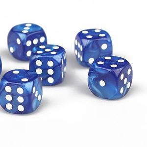 custom 6 sided transparent dot dice plastic casino dice of different color