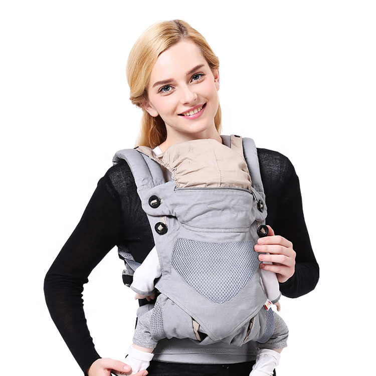 Baby Wrap Carrier, Ergonomic Design 4 in 1 Infant Sling, Multi-Functional Hug Strap for 7-45lbs Newborns and Baby