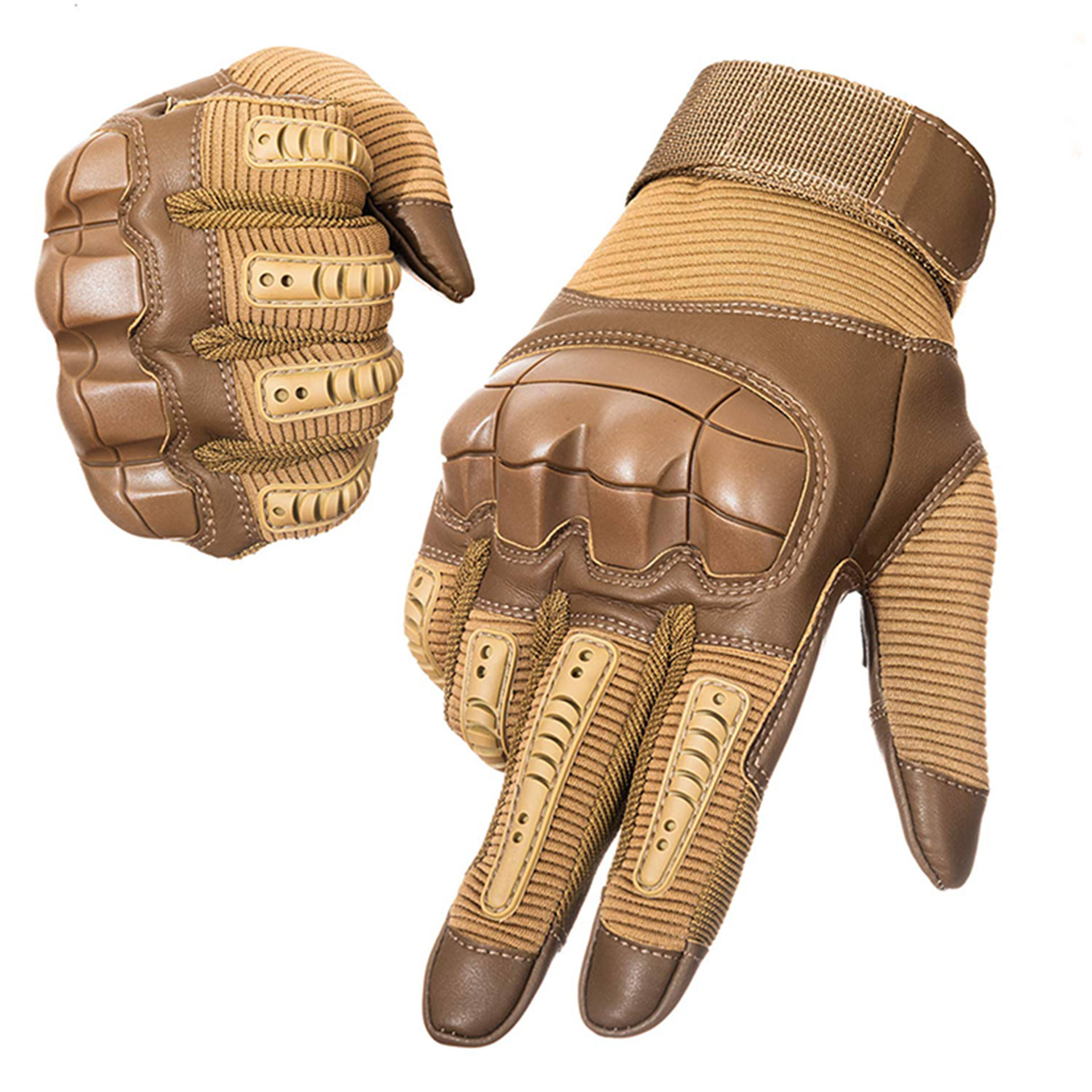Factory price durable full finger touch screen leather army tactical Military mitten