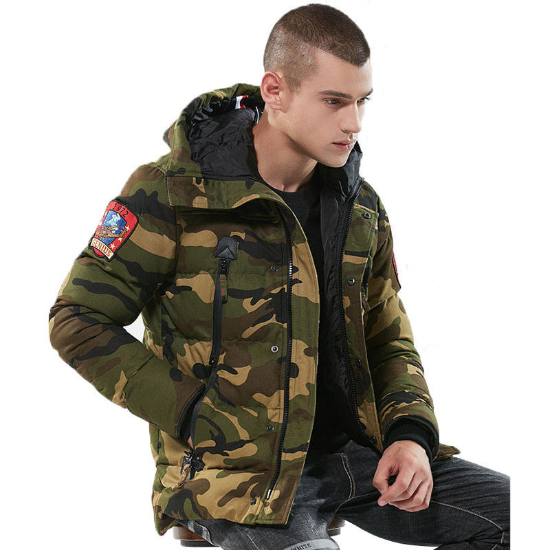 Free Shipping Winter Camo Overcoat Chaquetas Hombre Jackets Men's Coat