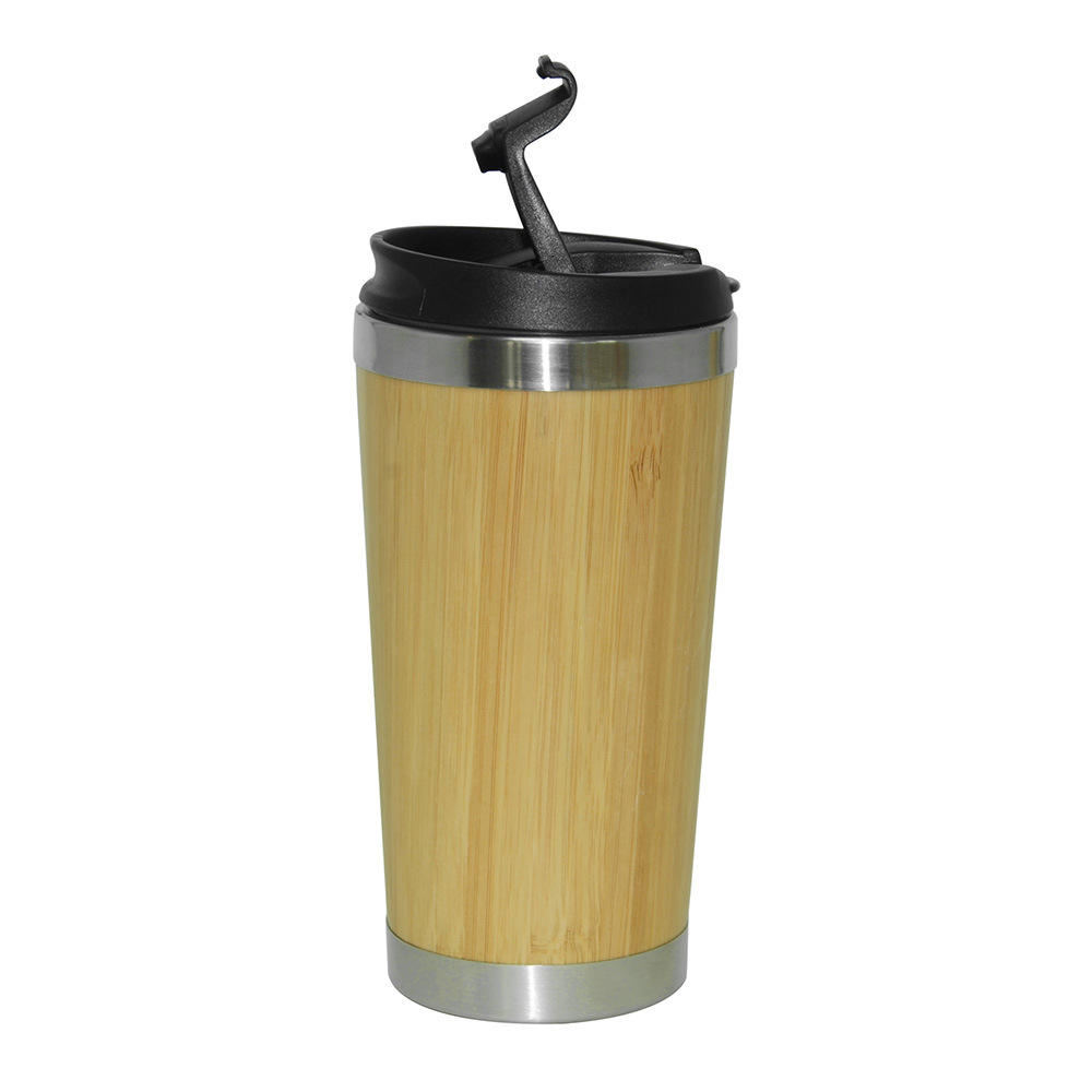 2020 New fashion design high quality Bamboo stainless steel office coffee mug Portable Leakproof Insulation Leisure Coffee mug