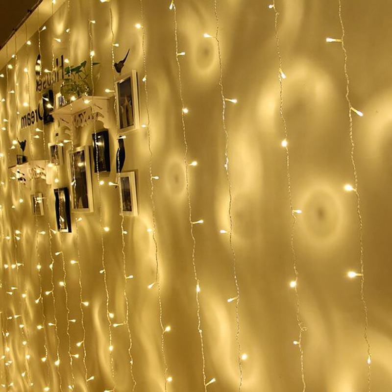 220v outdoor led icicle lights LED String Lights Christmas Decoration Curtain light