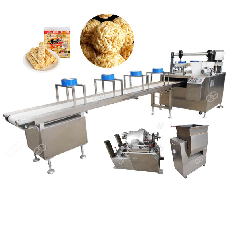 Good Price Automatic Popped Rice Cake Puffed Wheat Cereals Quinoa Popping Forming Making Sushi Rice Ball Machine