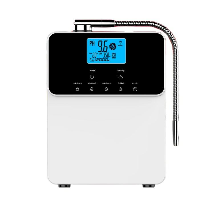LCD display home ce 5 7 11 plates alkaline water purifier portable water ionizer