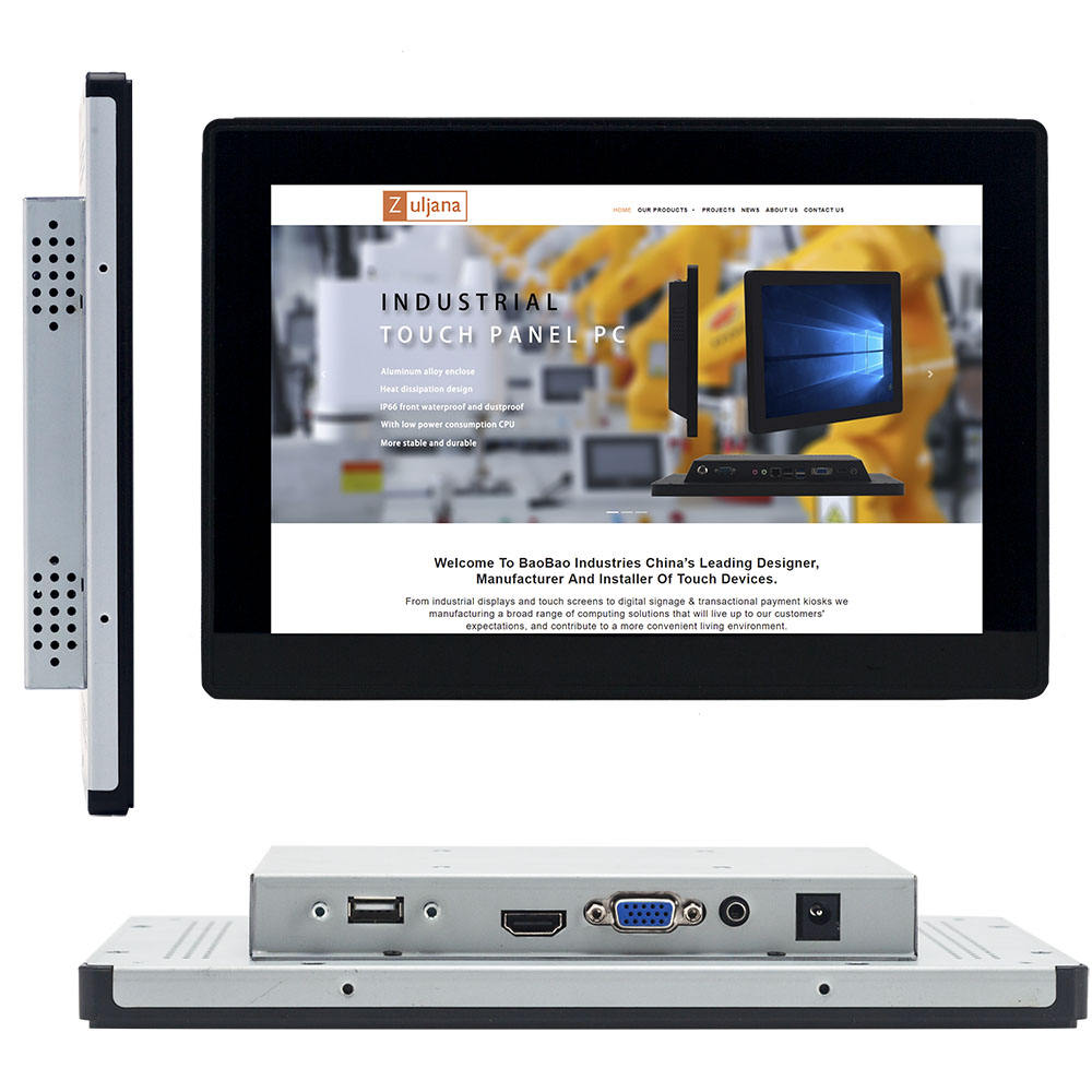 Flache Screen 10 zoll PCAP Touch Monitor 10,1 Touch Screen-Monitor mit HD-MI