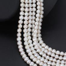 zhuji china cultured natural real freshwater pearl strand string beads wholesale loose round white freshwater pearl for jewelry