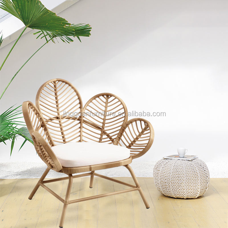 JG0142 Hot sale outdoor furniture lounge rattan/wicker peacock chair with cheap price