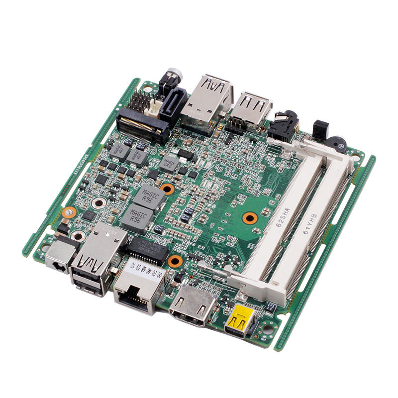I5-4200U Thin Client Papan Utama I3/I5/I7 Processor Nano NUC HD-MI DP Dual Display Mainboard dengan NGFF