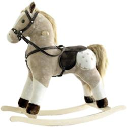 European Style Children Plush Rocking Horse Animal Rocker Toy