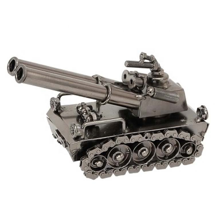Alloy Diecast Metal tank model decoration Vintage Cannon Mini Military Artillery