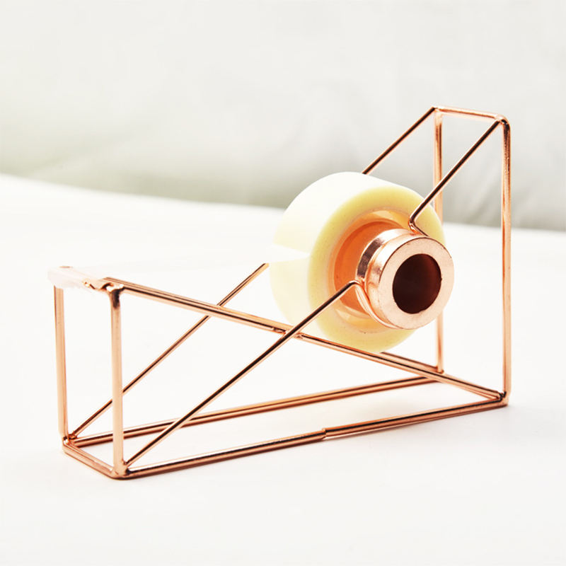 Wholesale Office and school supplies Rose Gold stationery carved Tape Dispenser