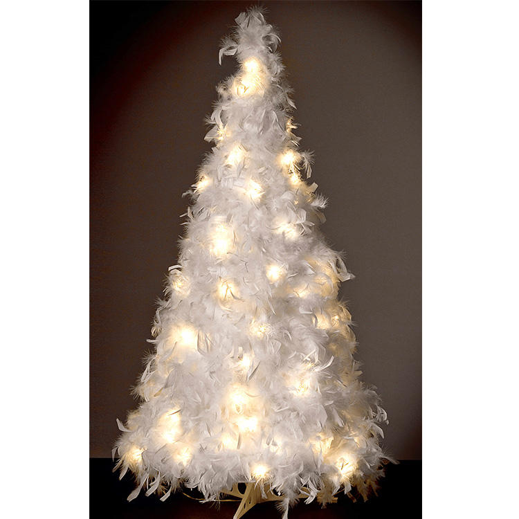 low-voltage 120cm feather tree fancy led light for home decoration