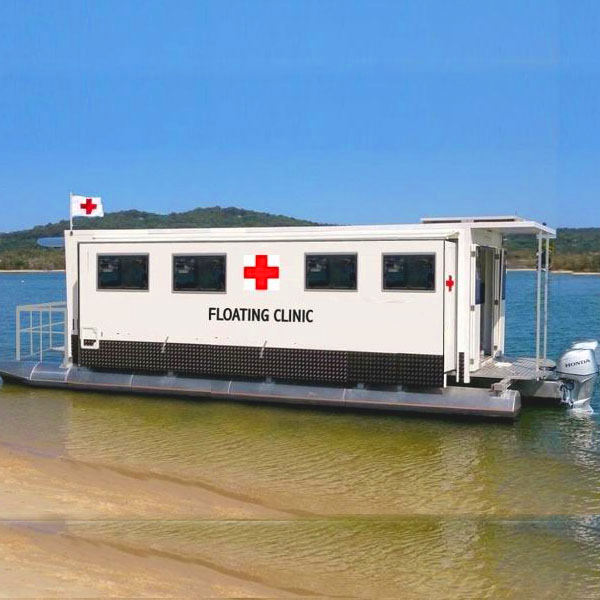 Aluminum Sea Going Mobile Medical Floating Clinic Prefab Houses