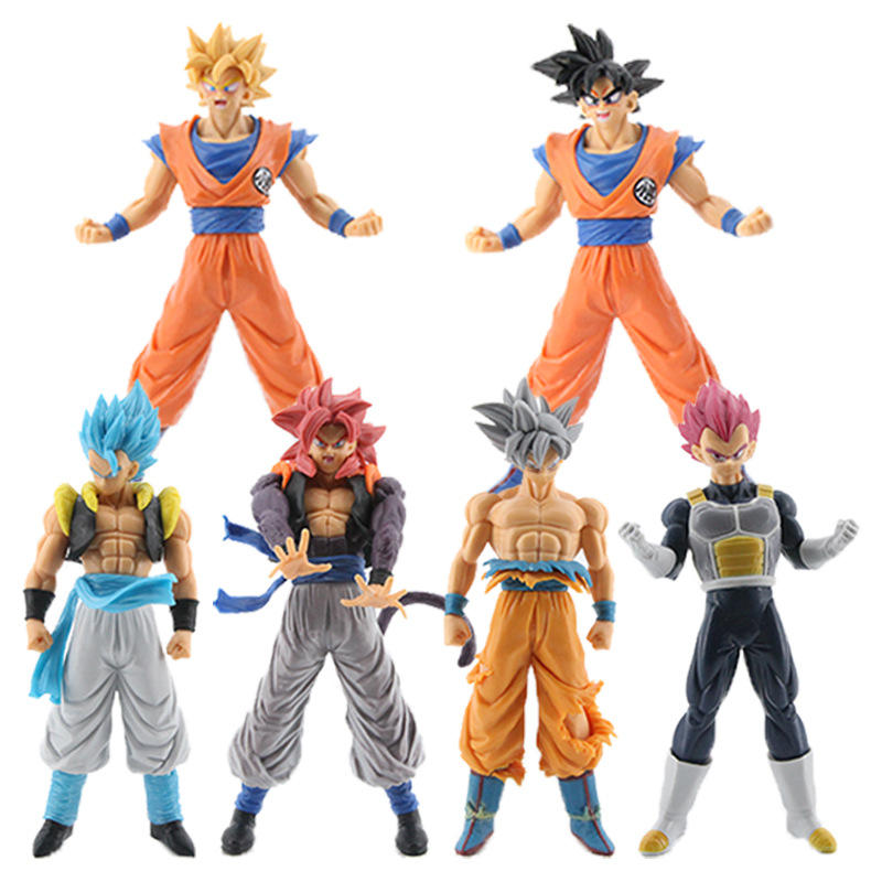 2021 Trends 7'' Set of 6pcs Novelty Japanese Cartoon Anime PVC Dragon Ball Figure Collectible Model Toys for Fans favor toys