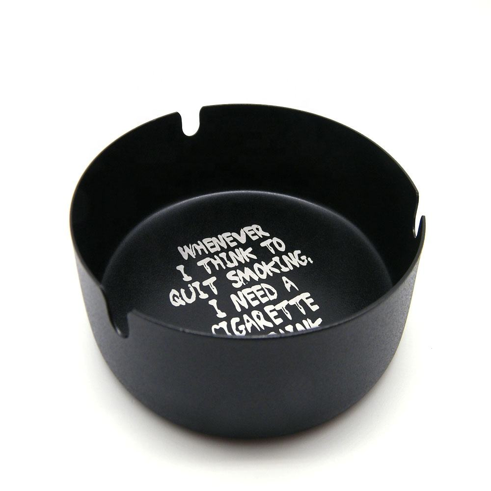 Bar Hotel Club net cafe KTV stainless steel metal round black creative personality funny ashtray