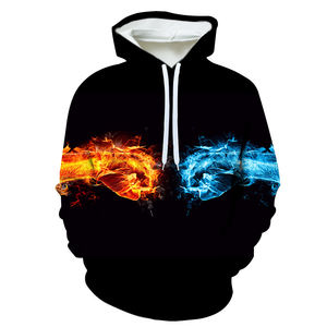 Red and blue fist bump 3D Sublimation Sweater