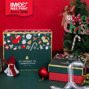 IMEE Luxury Christmas Navidad Creative Red Socks Gift Box Christmas Eve Boxes Ornaments Packaging Boxes