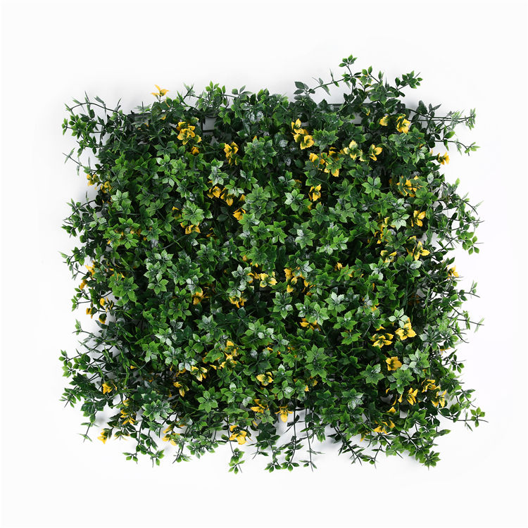 Plastic Greenery Grass Plastic Boxwood Panels Fence Artificial Flowers Green Wall Decoration