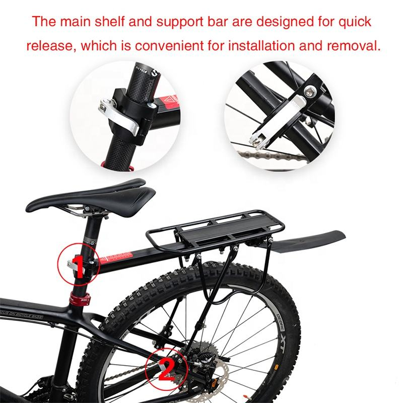 Rhinowalk Retractable Aluminum Alloy Bike Mount Cycle Bicycle Rear Seat Post Rack for Bicycle Accessories