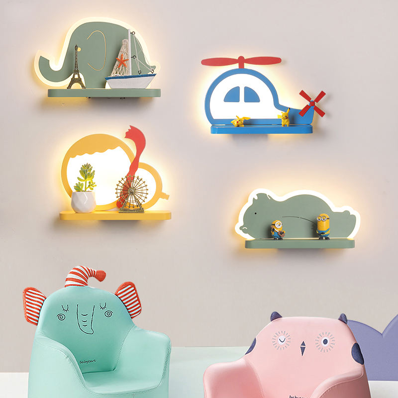 Factory wholesale indoor cartoon decoration led wall lights modern kids wall lamp for children room