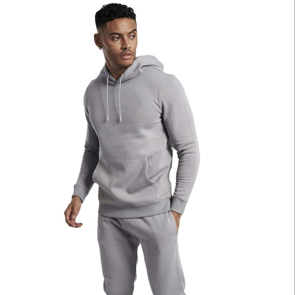 Wholesale Customized hoodie men 100% cotton 2 pc track suits w hoodie plus sizes