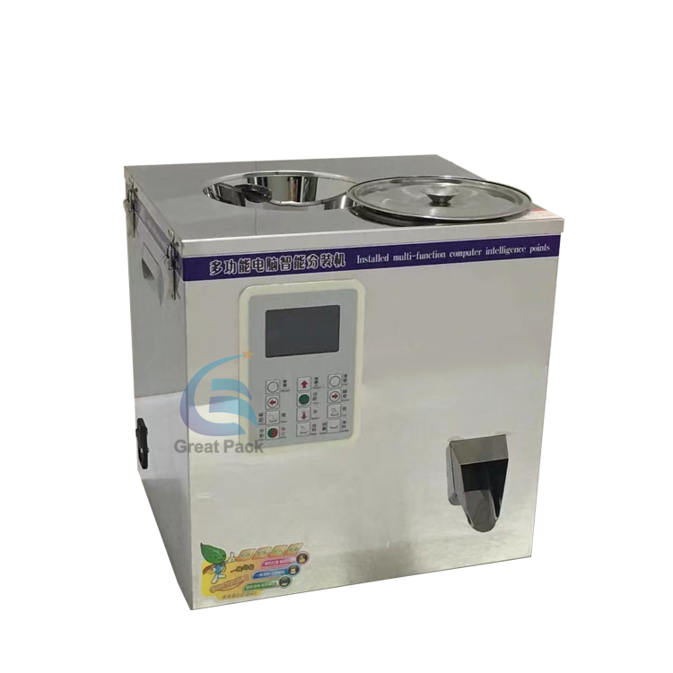 Low cost weigh filling machine for tea granule