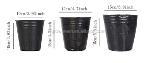 Disposable Cheap price Black plastic plant flower nursery grow pots easy to move soft hand nutrition agriculture pot