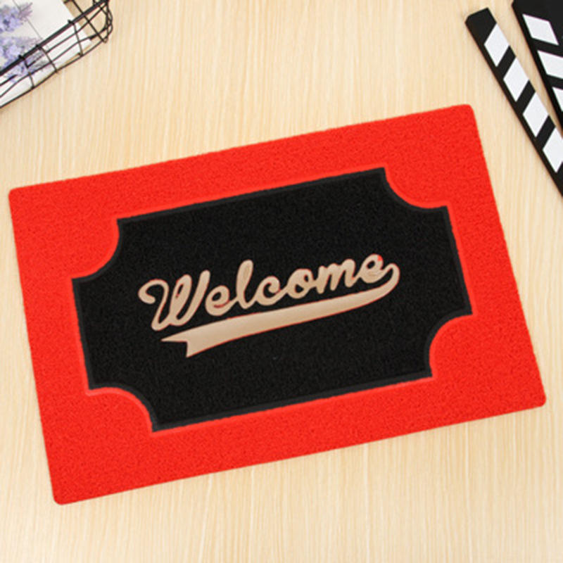 2019 hot sale Anti Slip pvc coil Welcome logo custom door Mat for pvc welcome