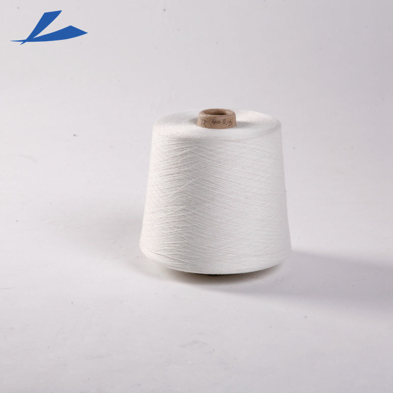 White 28s/1 90% Viscose 10% Polyester Blended Slub Yarn With Low Price