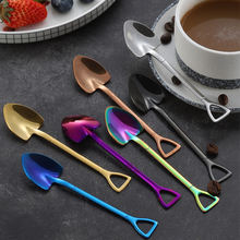 New Design Shape Small shovel Coffee Spoon 304 Stainless Steel Small Tea Spoon for Wedding Favors